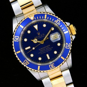 replica-rolex-submariner-blue-stainless-steel-rolex-submariner-stainless-steel-18k-gold-two-tone-16613-blue-dial
