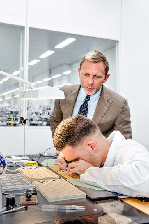 Daniel Craig at OMEGA Factory w/ watchmaker
