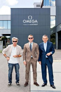 Nick Hayek, Daniel Craig, Stephen Urquhart at OMEGA Factory